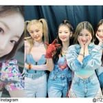 TWICEダヒョン、ITZY(右)