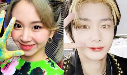 TWICEチェヨン、MONSTA Xヒョンウォン(右)