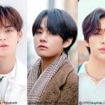 SEVENTEENミンギュ、BTS V、Stray Kidsヒョンジン(右)