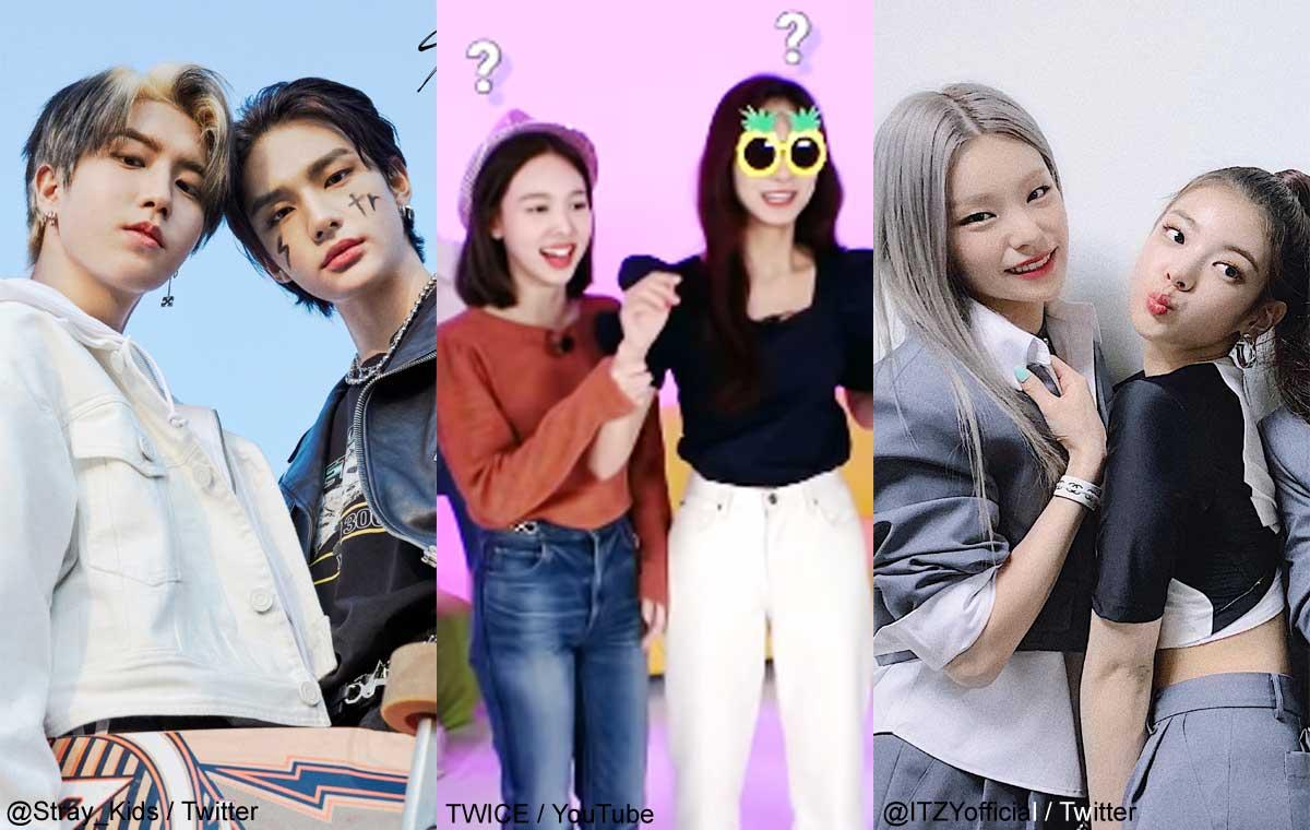 Stray Kidsハン&ヒョンジン、TWICEナヨン&ツウィ、ITZYイェジ&リア(右)