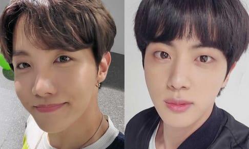 BTS J-HOPE(左)、ジン(右)