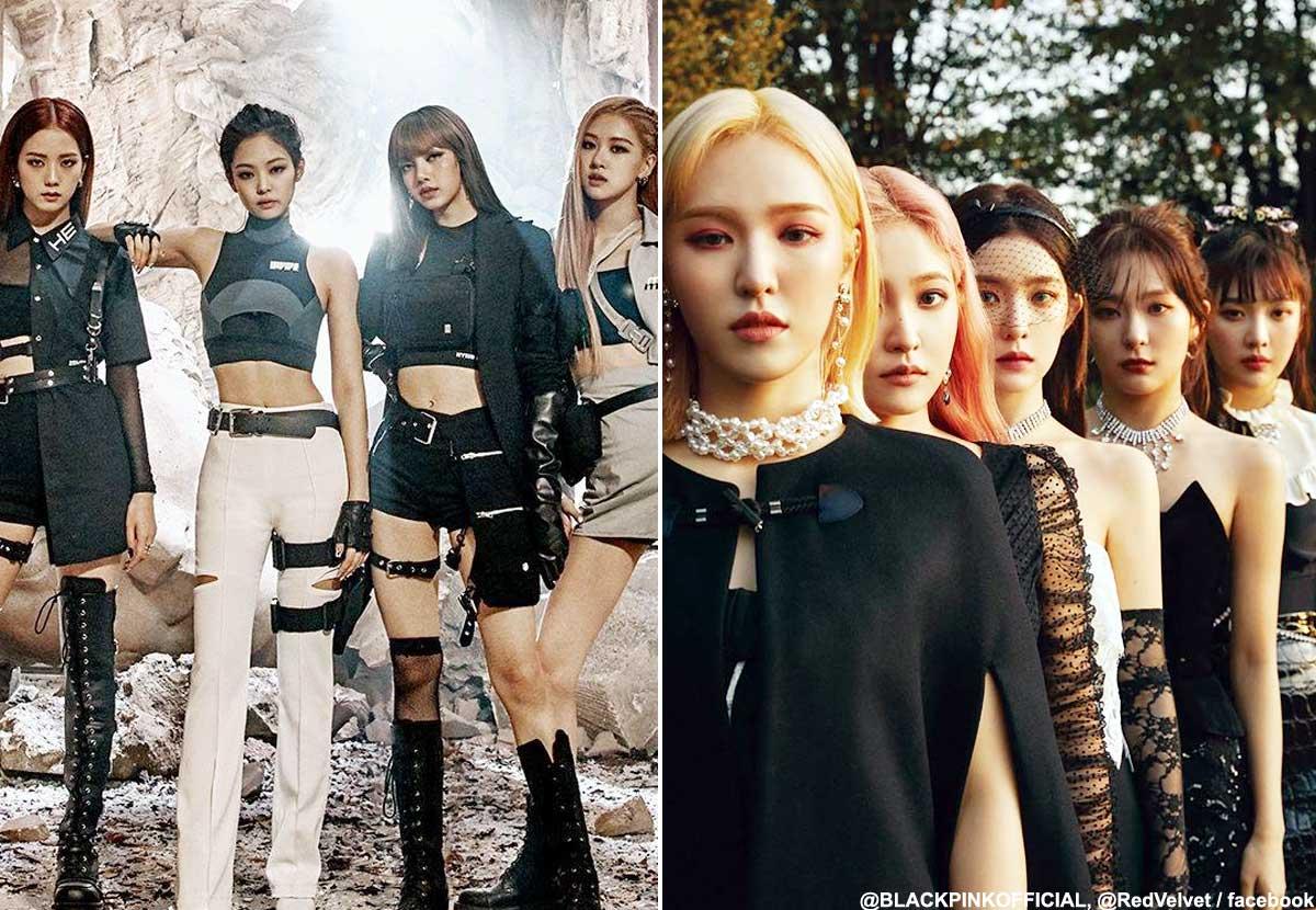 BLACKPINK(左)、Red Velvet