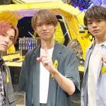 JO1(左から)川西拓実、白岩瑠姫、鶴房汐恩