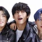 (左)BTS ジョングク(中央)V(右)ジミン