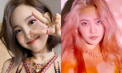 TWICE ナヨン(左)、Red Velvet イェリ(右)