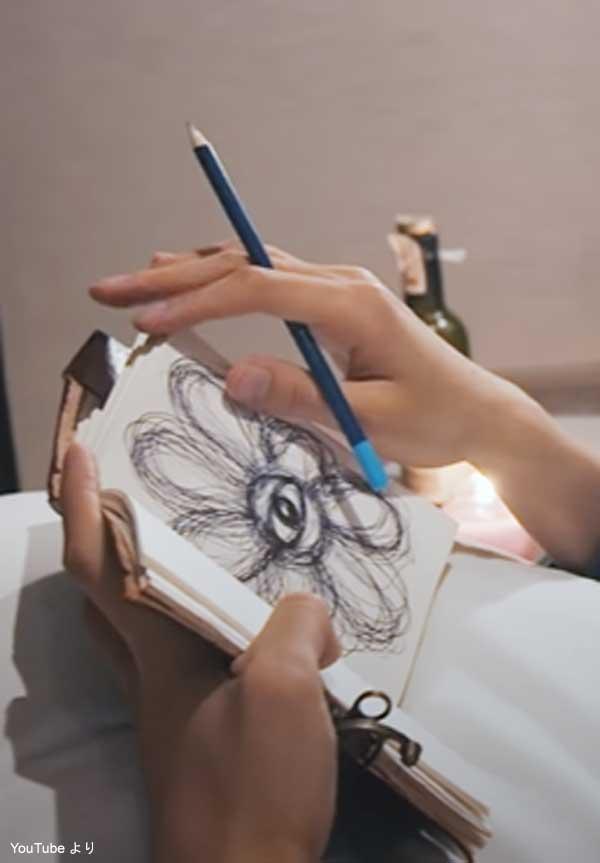 ディエイトの手帳に描かれている絵