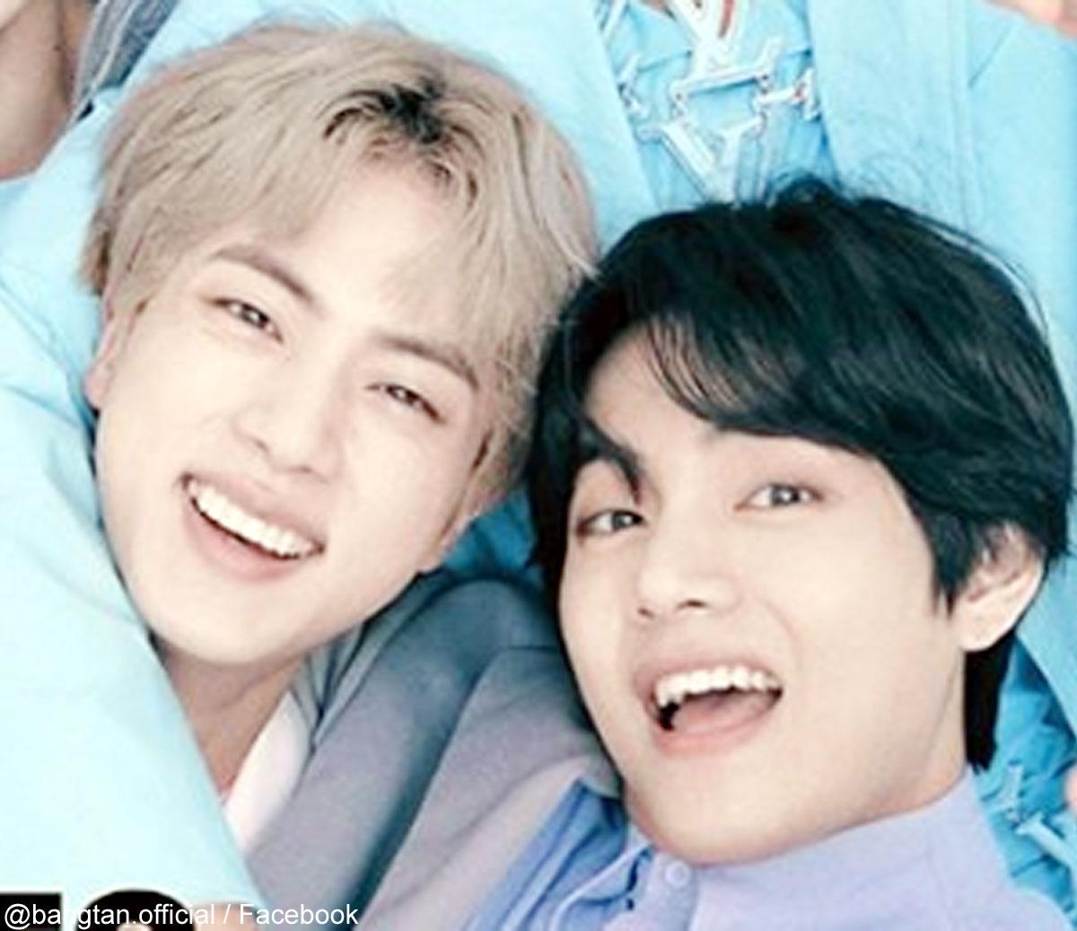 (左)BTS ジン(右)V