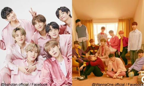 BTS、Wanna One(右)