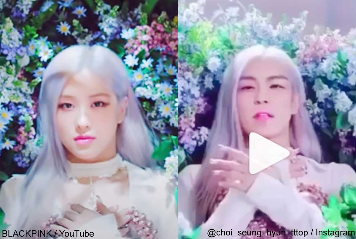 BLACKPINKロゼ、BIGBANG T.O.P(右)
