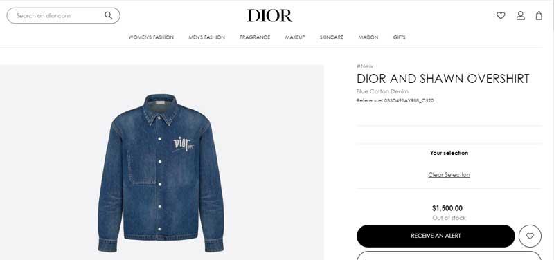 ジョングクが着用していたアイテム/dior.com