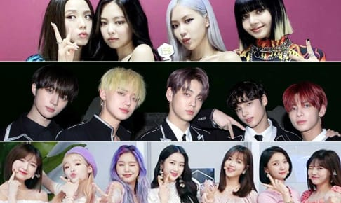 (写真上から)BLACKPINK、TXT(TOMORROW X TOGETHER)、OH MY GIRL