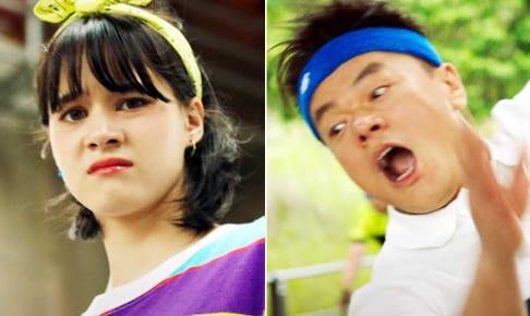 NiziU ニナ(左)、J.Y.Park(パク・ジニョン)