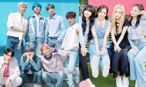 BTS、BLACKPINK(右)