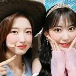 OH MY GIRL アリン(左)、IZ*ONE 宮脇咲良(右)
