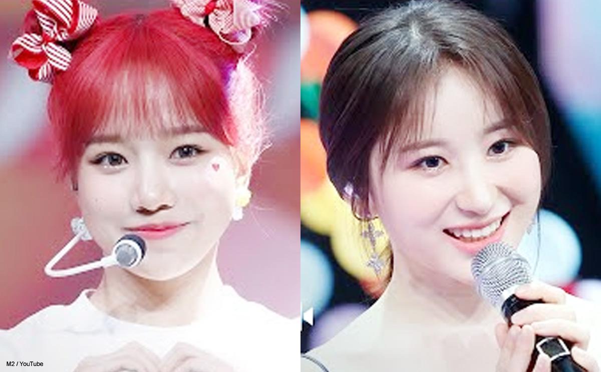 IZ*ONE ユリ(左)とチェヨン(右)