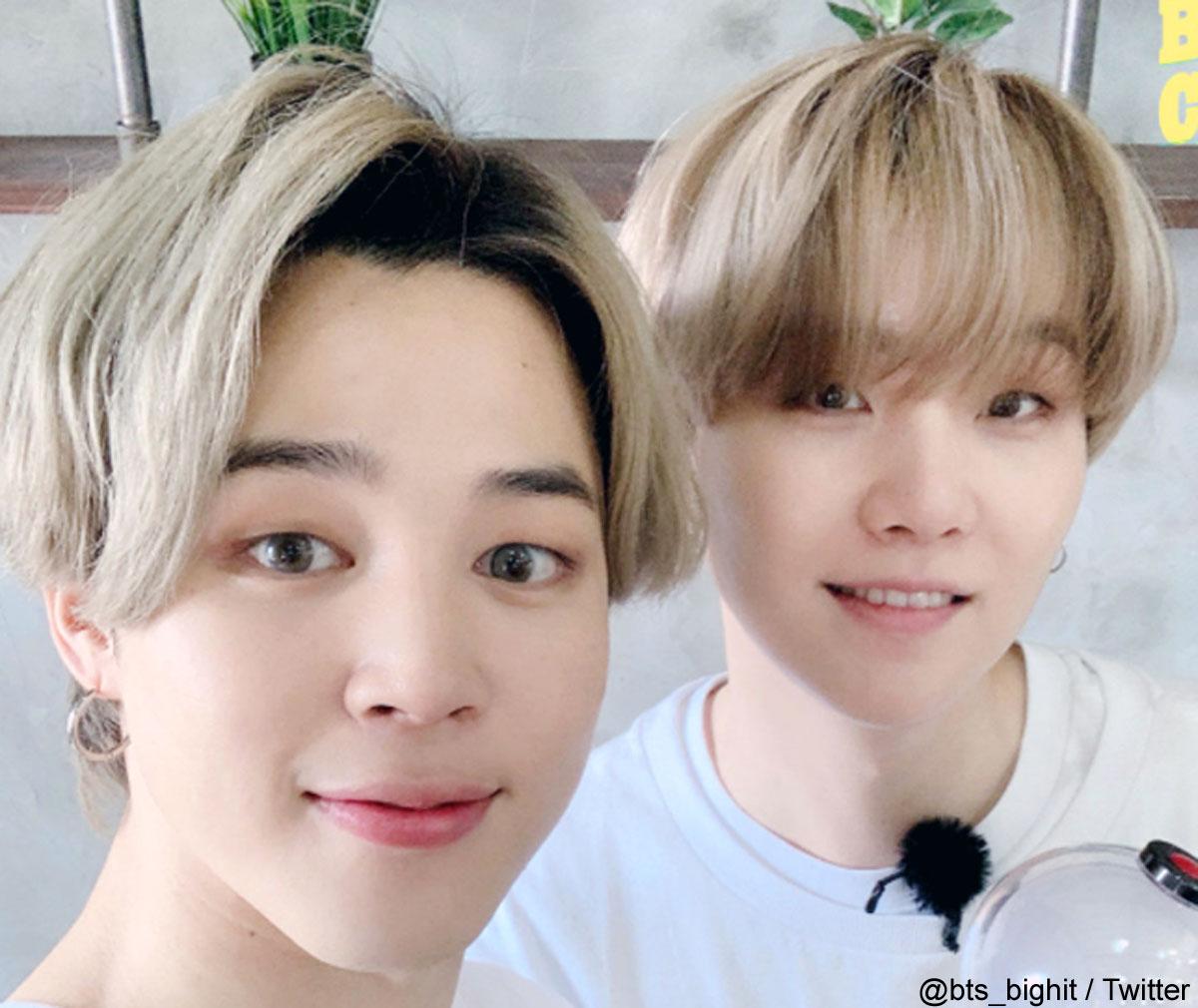 (左)BTS ジミン(右)シュガ