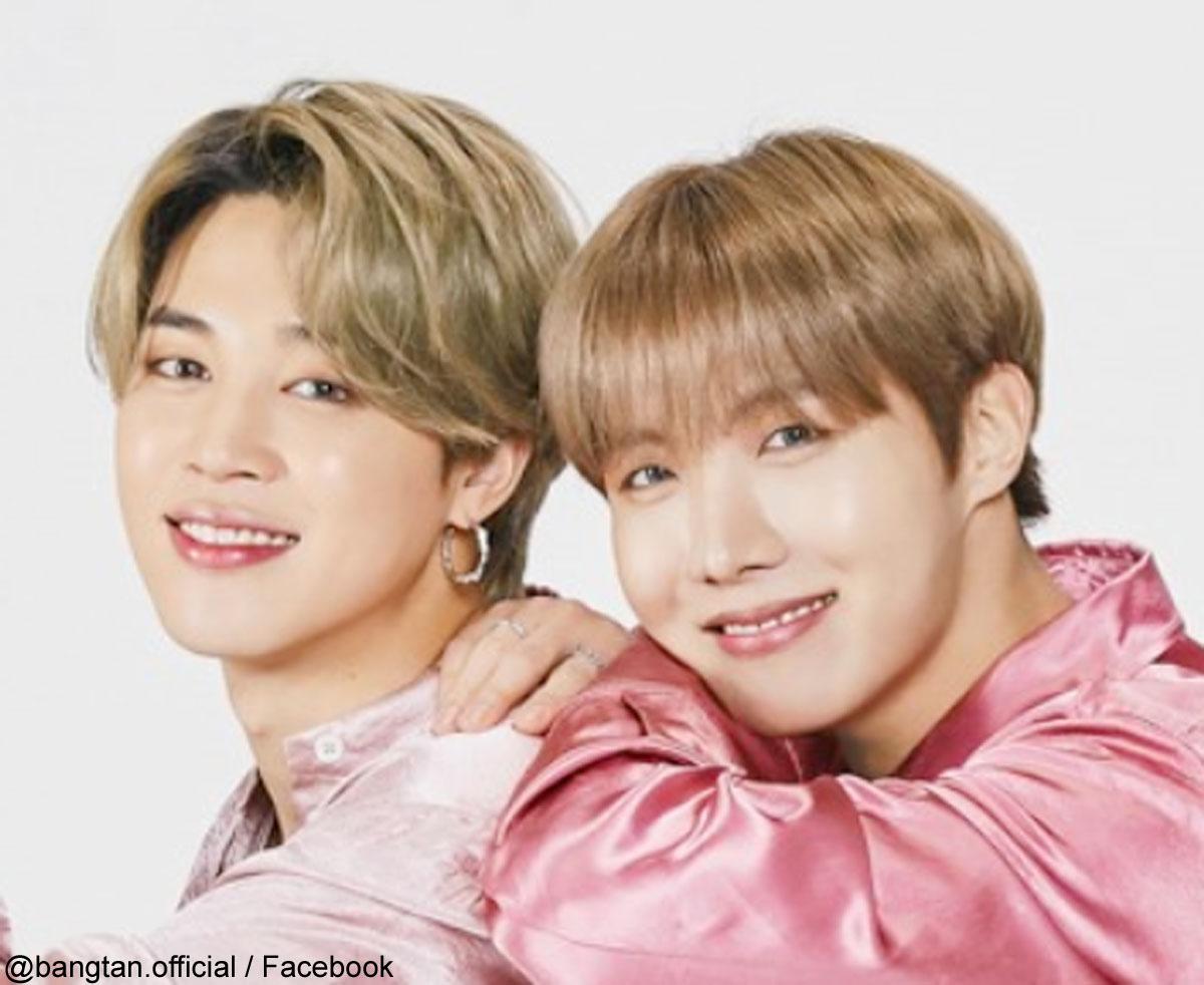 (左)BTS ジミン(右)J-HOPE