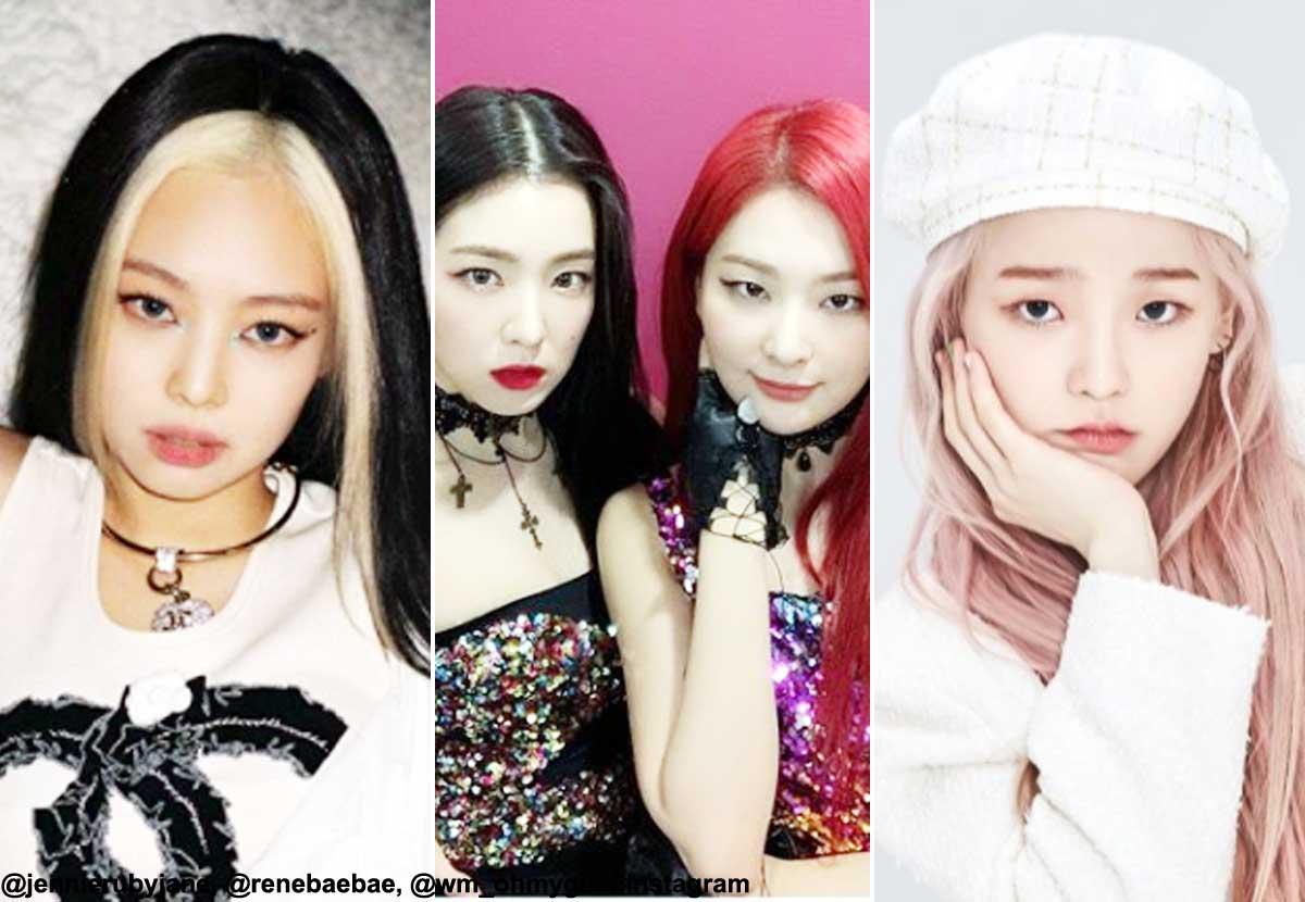 (左から)BLACKPINK ジェニー、Red Velvet アイリーン&スルギ、OH MY GIRL スンヒ