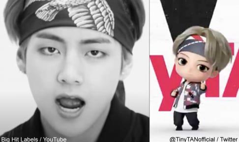 BTS V、「TinyTAN」Vnoキャラクター(右)