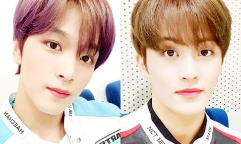 NCT ヘチャン(左)とマーク(右)