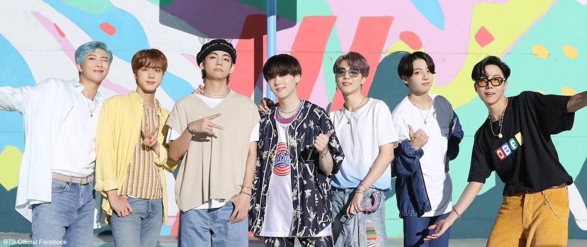 BTS(防弾少年団)左から:RM、ジン、V(ブイ)、SUGA(シュガ)、ジミン、ジョングク、J-HOPE(ジェーホープ)
