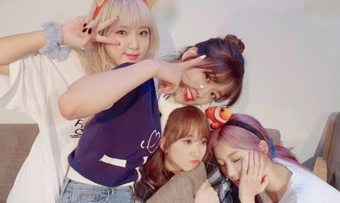 (左から)IZ*ONE イェナ、ユジン、奈子、へウォン