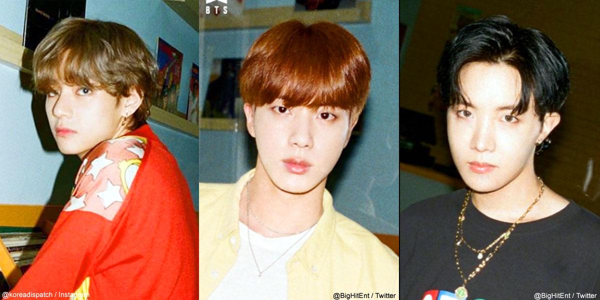 (左)BTS V(中央)ジン(右)J-HOPE