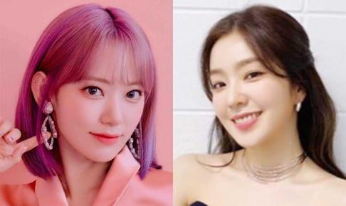 IZ*ONE 宮脇咲良(左)、Red Velvet アイリーン(右)