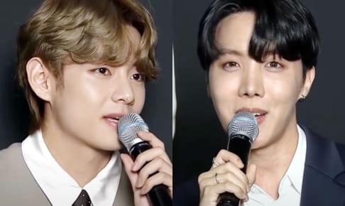 (左)BTS V(右)J-HOPE