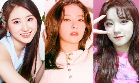 IZ*ONE チェヨン、Red Velvet スルギ、(G)I-DLE ウギ(右)