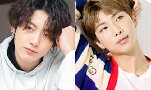 (左)BTS ジョングク(右)RM
