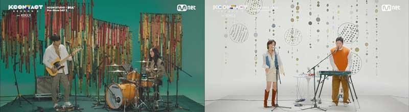 韓国コンテンツ振興院が支援する 6 チームの K インディーズ ミュージシャンたちのフリーステージが繰り広げられた