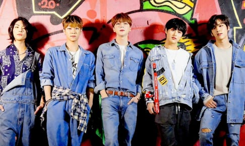 NIK韓国滞在メンバー(左から) パク ハ、ユンソル、コ ゴン、ヒョンス、ゴンミン