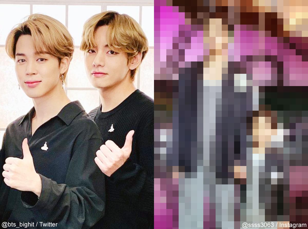 (左)BTS ジミン(右)V