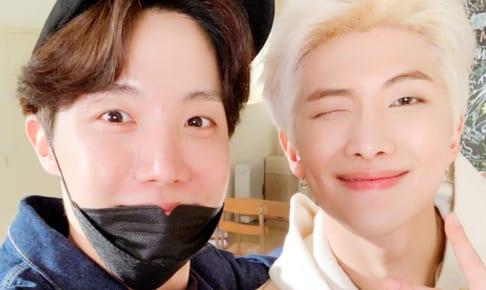 (左)BTS J-HOPE(右)RM