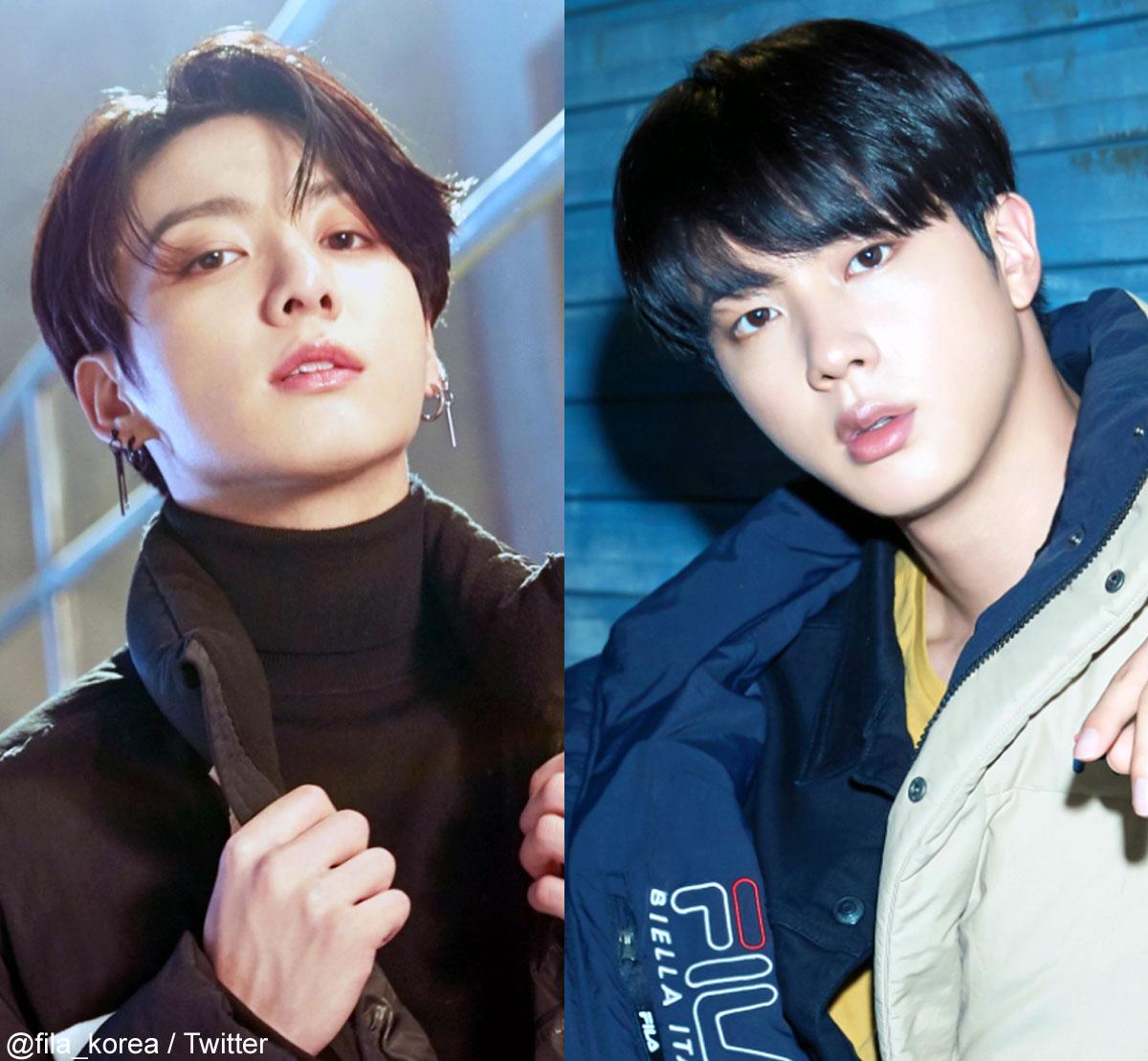 (左)BTS ジョングク(右)ジン