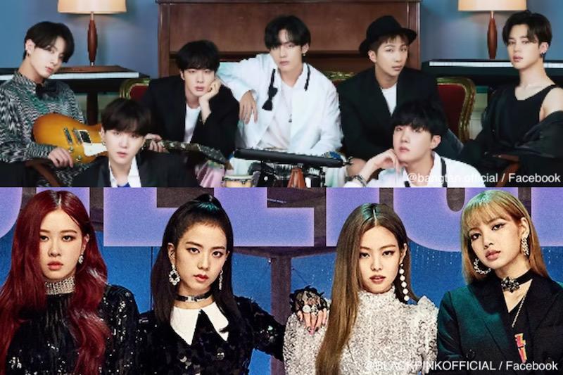 上:BTS(防弾少年団)、下:BLACKPINK