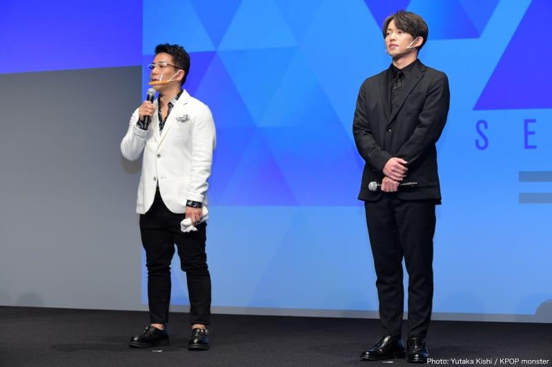 トレーナーを務めるDA PUMP KENZO(右)と菅井秀憲