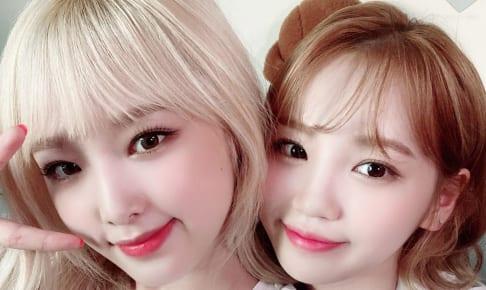 IZ*ONE イェナ(左)、チェウォン(右)