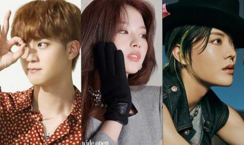 BTS ジン、TWICE サナ、NCT ユウタ(右)
