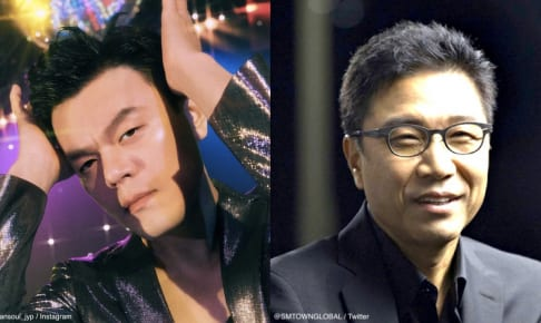左:J.Y.Park 右:イ・スマン(SMエンターテイメントメインプロデューサー)