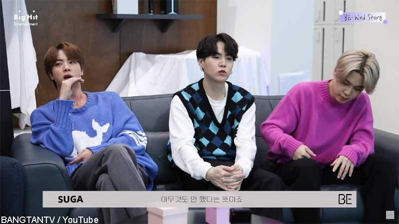 (左から)BTS ジン、シュガ、ジミン