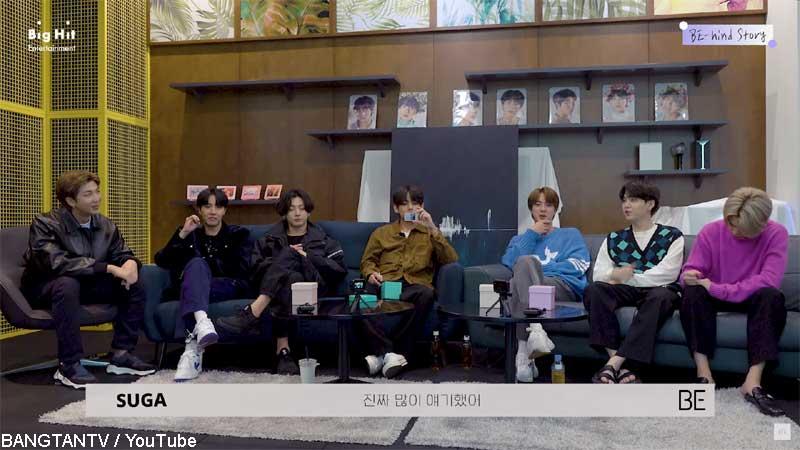 (左から)BTS RM、J-HOPE、ジョングク、V、ジン、シュガ、ジミン
