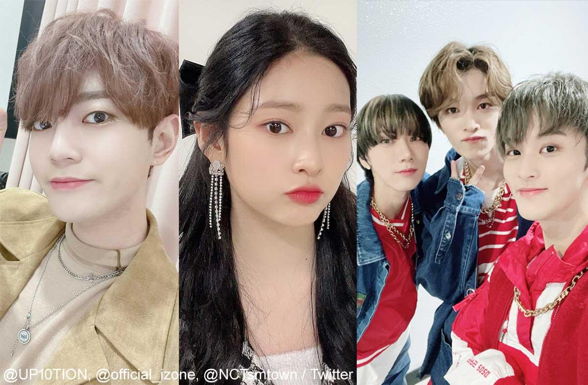 UP10TION ビト、IZ*ONE ミンジュ、NCT U テン、ソンチャン、マーク(右)