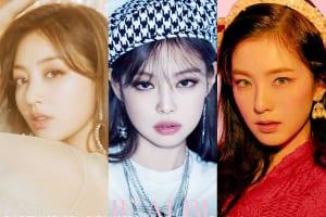 TWICE ジヒョ、BLACKPINK ジェニー、Red Velvet アイリーン(右)