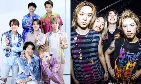 (左)BTS(右)ONE OK ROCK
