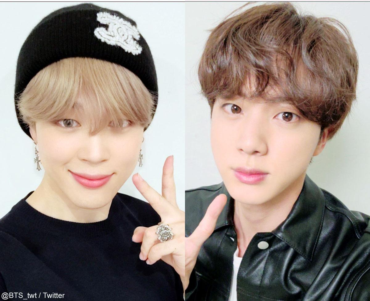 (左)BTS ジミン(右)ジン