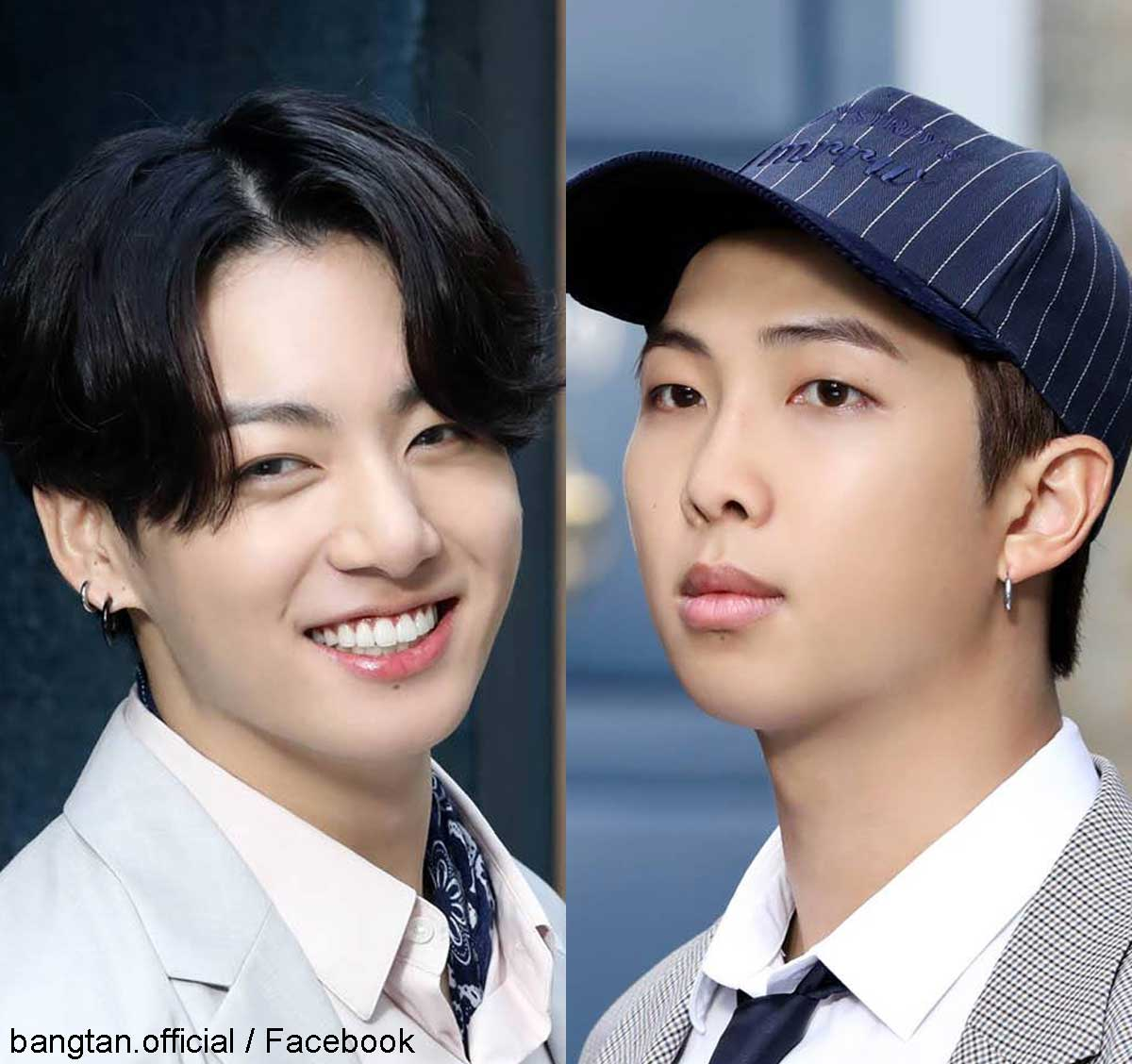 BTS ジョングク(左)RM(右)