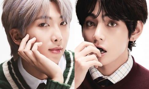 BTS RM(左)V(右)