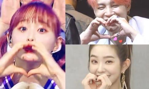 (左)LOONA チュウ、(右上)BTS ジミン、(右下)Red Velvet アイリーン
